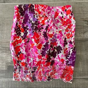 Lily White strapless floral tube top size small